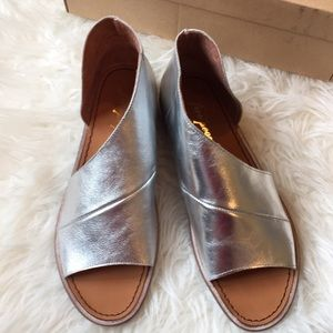Free People Mont Blanc silver leather sandals